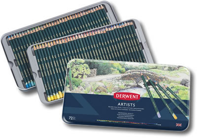 Derwent Artists Colour Pencils Tin of 72
