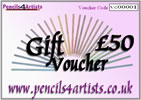 Pencils4artists £50 Gift Voucher