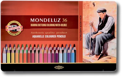 Koh I Noor Mondeluz Watercolour Pencil - Tin of 36