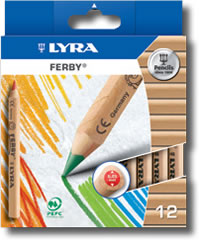Lyra Ferby box of 12 - natural wood barrel