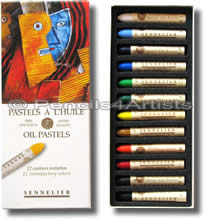 Sennelier Oil Pastels - Box 12 Assorted Colours