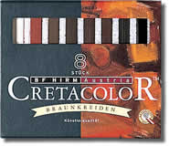 Cretacolor Pastel Carres Set of 8 Browns