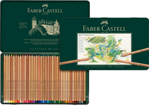 Faber Castell Pitt Pastel Pencils Tin of 36