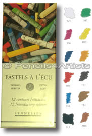 Sennelier Soft Pastels A L'Ecu - Box 12 Introductory Colours