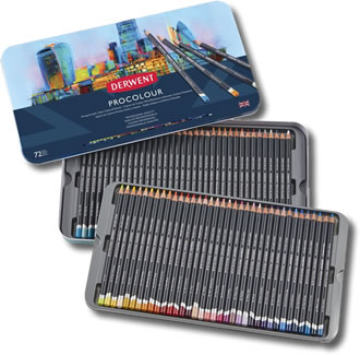 Derwent Procolour Pencils - Tin of 72