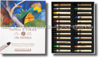 Sennelier Oil Pastels - Box 24 Landscape Colours