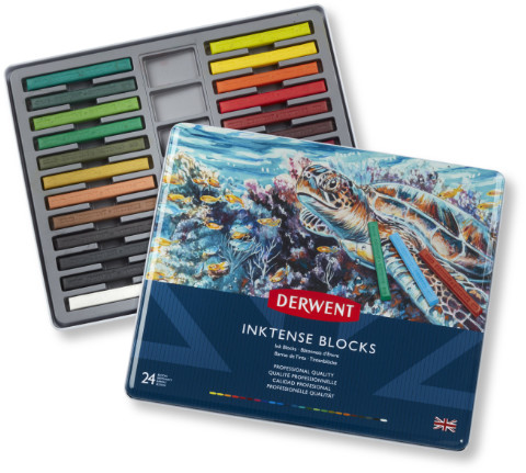 Derwent Inktense Blocks Tin of 24