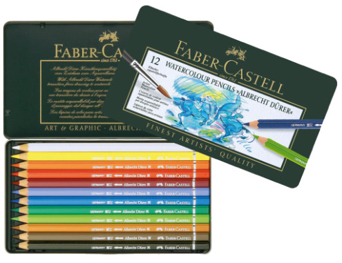 Faber Castell Albrecht Durer Watercolour Pencils Tin 12