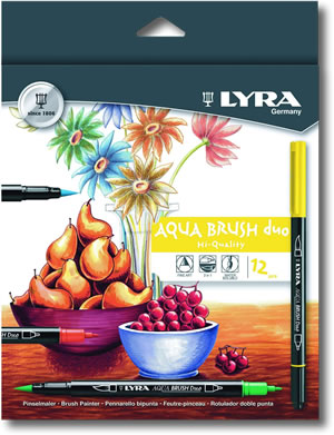 Lyra Aqua Brush Duo Set of 12
