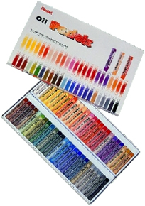 Pentel Oil Pastels Box of 50
