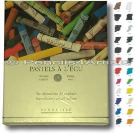 Sennelier Soft Pastels A L'Ecu - Box 24 Introductory Colours