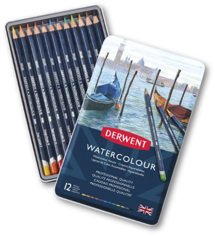 Derwent Watercolour Pencils Tin 12