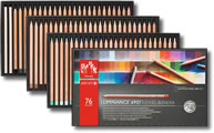 Caran D'Ache Luminance 6901 Permanent Colour Pencil Box of 76