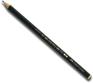 Faber Castell 9000 Black Lead Graphite Pencil - Singles