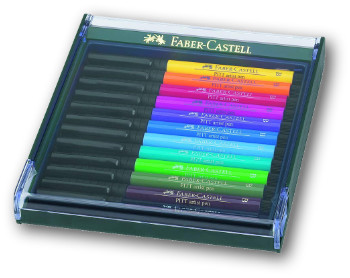 Faber Castell Pitt Artist Brush Pen - Set of 12 Intensive Colours