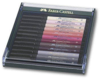 Faber Castell Pitt Artist Brush Pen - Set of 12 Skin Tones