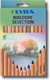 Lyra Super Ferby Waldorf Selection Box of 12 - natural wood barrel