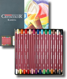 Cretacolor Karmina Fine Art Colour Pencils Tin of 24