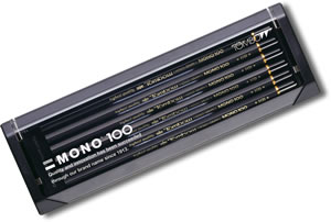 Tombow Mono 100 Graphite Pencils - Box 12 mixed grades