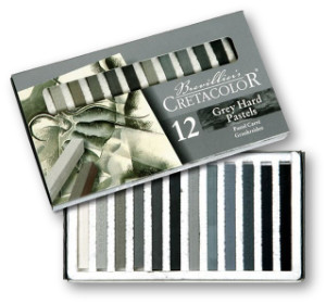 Cretacolor Pastel Carres Set of 12 Greys