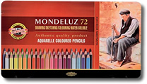 Koh I Noor Mondeluz Watercolour Pencil - Tin of 72
