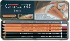 Cretacolor Primo Basic Drawing Tin of 6 Pencils