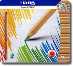 Lyra Super Ferby Tin of 18 - Natural wood Barrel