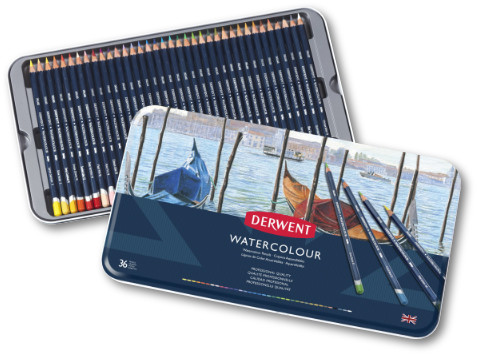 Derwent Watercolour Pencils Tin 36