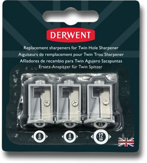 Replacement Sharpeners for Derwent Battery Operated Twin Hole Sharpener