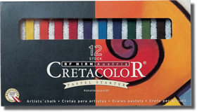 Cretacolor Pastel Carres Set of 12 Assorted
