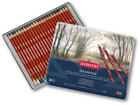 Derwent Drawing Pencils Tin 24