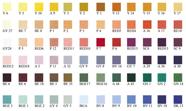 Unison Pastels Set of 72 Portrait Colours