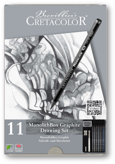 Cretacolor Monolith Box Graphite Drawing Set of 11 pieces