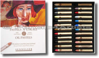 Sennelier Oil Pastels - Box 24 Portrait Colours