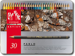 Caran D'Ache Pablo Water Resistant Coloured Pencils Tin of 30