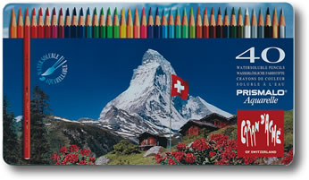 Caran D'Ache Prismalo Watersoluble Colour Pencils Tin of 40