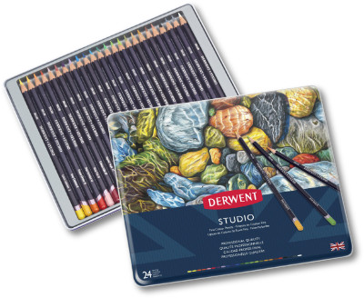 Derwent Studio Colour Pencils Tin of 24