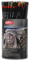 Derwent Charcoal & Tinted Charcoal Single Pencils