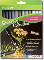 Tombow ABT Dual Brush Pen Set of 12 Greys