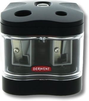 Derwent Battery Operated Twin Hole Sharpener