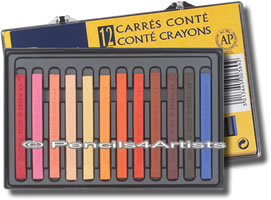 Conte Carres Crayons Box of 12 Portrait Colours