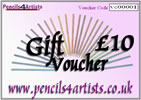 Pencils4artists £10 Gift Voucher