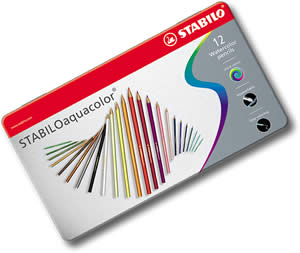 Stabilo Aquacolor Watercolor Pencils Tin of 12