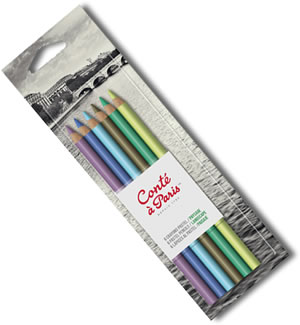 Conte Pastel Pencils Blister Pack of 6 Landscape Colours