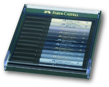 Faber Castell Pitt Artist Brush Pen - Set of 12 Shades of Grey