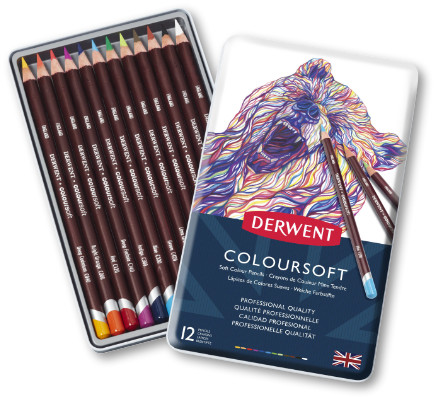 Derwent Coloursoft Pencils Tin of 12