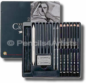 Cretacolor Black Box Charcoal & Graphite Set