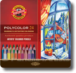 Koh I Noor 3800  Polycolor Colour Pencils Tin of 24