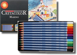 Cretacolor Marino Fine Art Watercolor Pencils Tin of 12