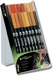 Tombow ABT Dual Brush Pen Set of 18 Earth Colours